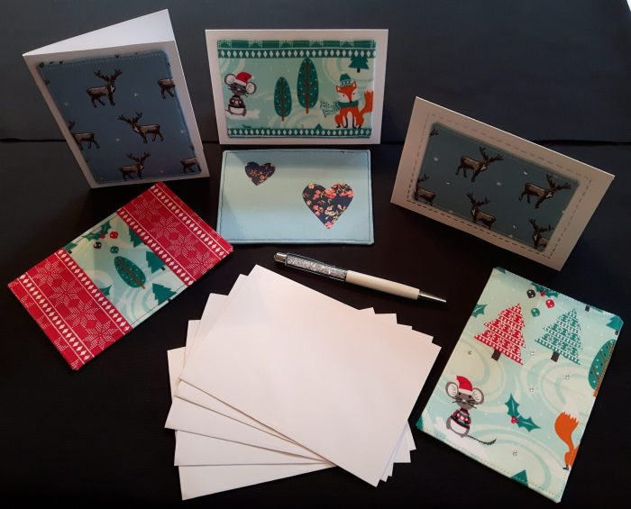 Bedazzled Paperclips, Travelling Mail, and a Fabric Postcard Tutorial